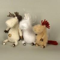 Новогодний подарок - Лошадь вязаная, ручной работы